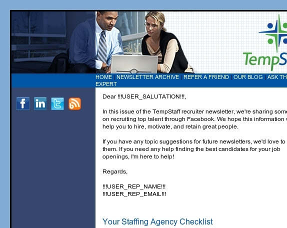 How to Recruit Top Talent: TempStaff Recruiting Newsletter