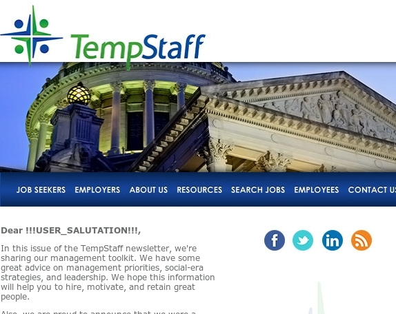 TempStaff Newsletter: Your Management Toolkit